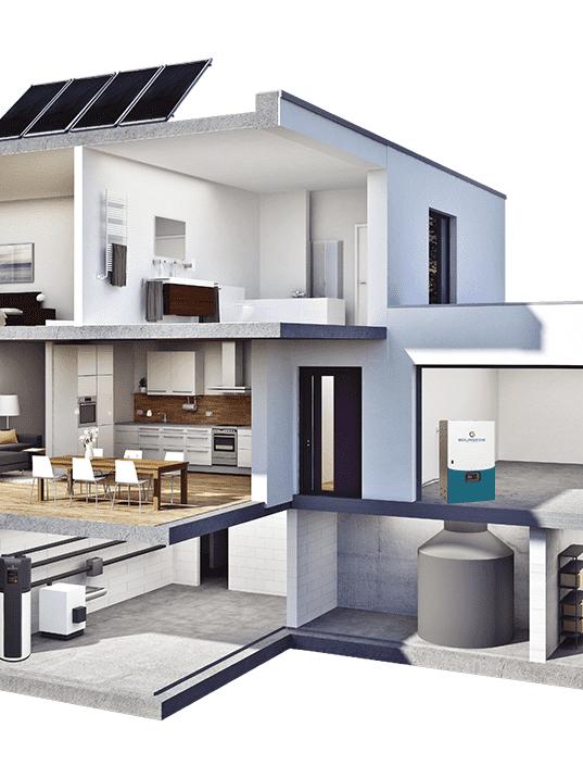 maison stockage autoconsommation panneaux solaires
